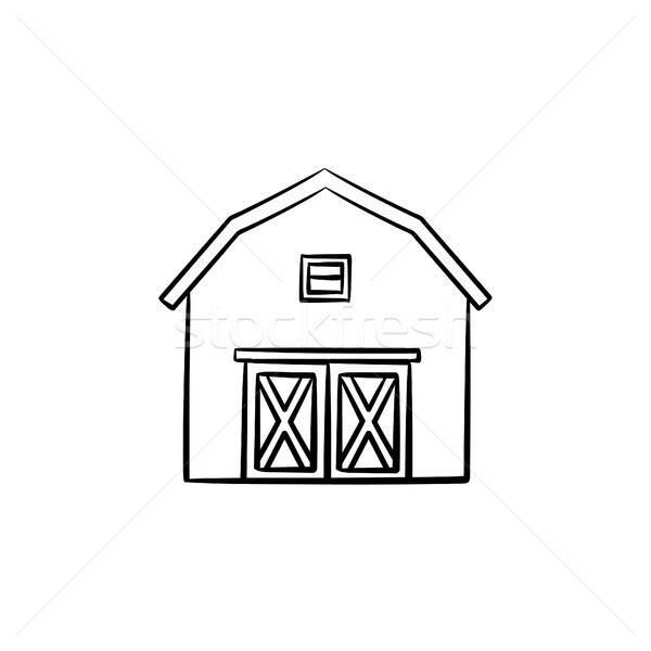Farm barn hand drawn sketch icon. Stock photo © RAStudio