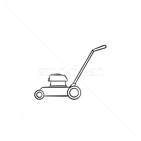Mower hand drawn sketch icon. Stock photo © RAStudio