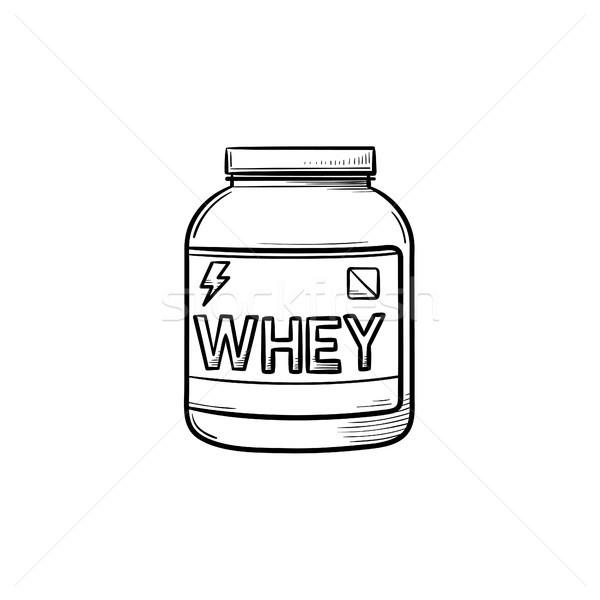 Sport nutrition hand drawn outline doodle icon. Stock photo © RAStudio