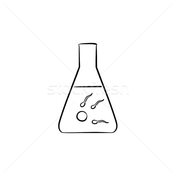 In vitro fertilization hand drawn outline doodle icon. Stock photo © RAStudio