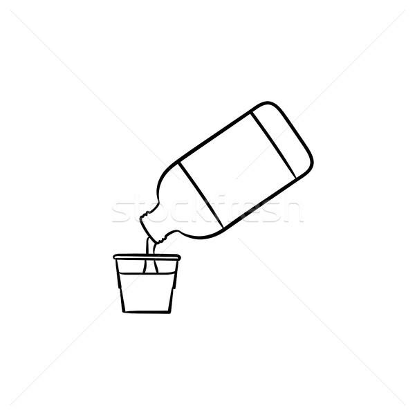 Mouth rinse hand drawn outline doodle icon. Stock photo © RAStudio