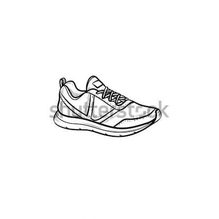 Sneaker hand drawn outline doodle icon. Stock photo © RAStudio