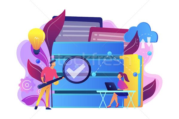 Grand données analytics loupe étudier Photo stock © RAStudio