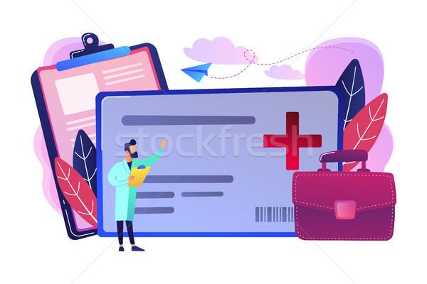 Sağlık akıllı kart doktor dijital sağlık Stok fotoğraf © RAStudio