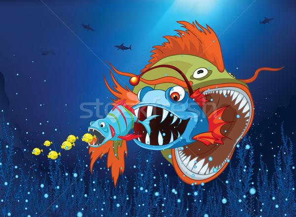 Oceaan onderwater wereld cartoon koraalrif alge Stockfoto © RAStudio