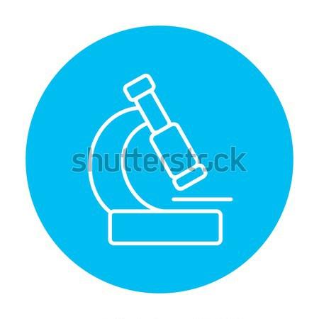 Microscope thin line icon Stock photo © RAStudio