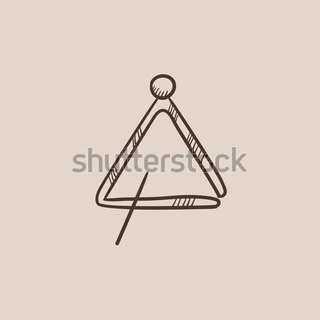 Triangle thin line icon Stock photo © RAStudio