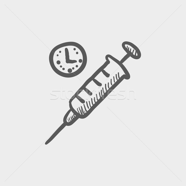 Syringe sketch icon Stock photo © RAStudio