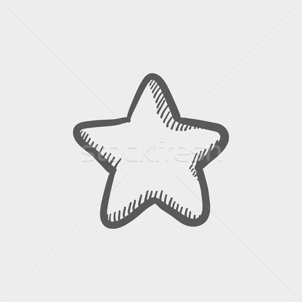 Star en İyi seçim kroki ikon web hareketli Stok fotoğraf © RAStudio