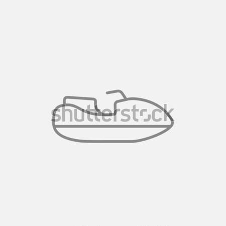 Jet scooter line icon. Stock photo © RAStudio