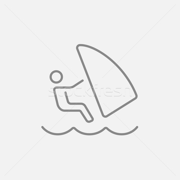 Wind surfing line icon. Stock photo © RAStudio