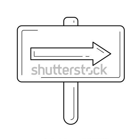 Seyahat trafik işareti hat ikon web hareketli Stok fotoğraf © RAStudio