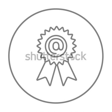 Award with at sign line icon. Stock photo © RAStudio