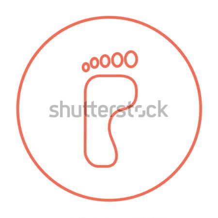 Stock photo: Footprint line icon.
