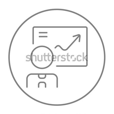El itme dokunmatik ekran düğme hat ikon Stok fotoğraf © RAStudio