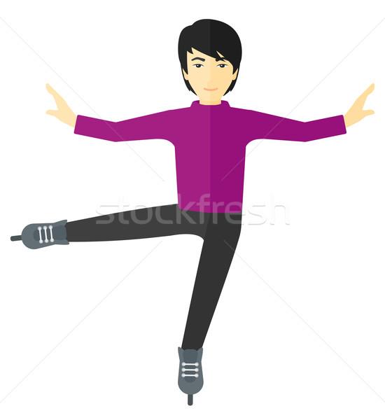 Male figure skater. Stock photo © RAStudio