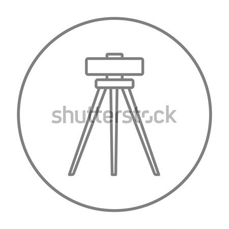 Theodolite on tripod line icon. Stock photo © RAStudio