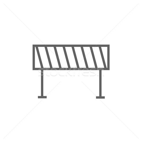 Weg lijn icon hoeken web mobiele Stockfoto © RAStudio