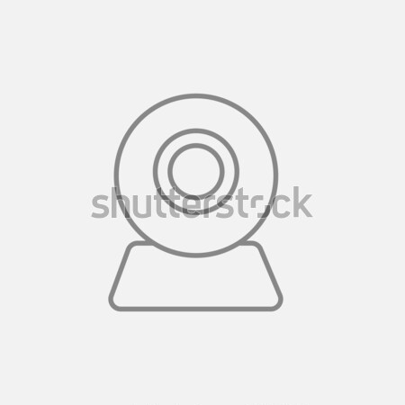 Web camera line icon. Stock photo © RAStudio