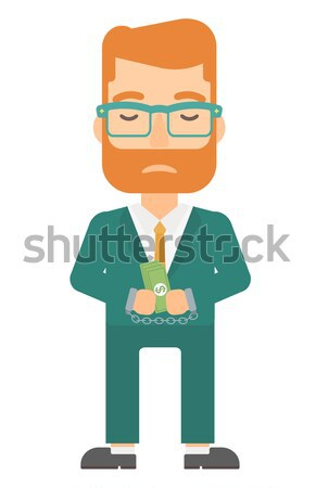ストックフォト: 男 · 犯罪 · アジア · ビジネスマン · 手錠