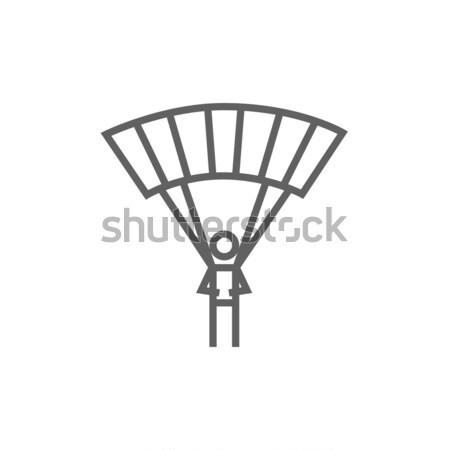 Skydiving line icon. Stock photo © RAStudio