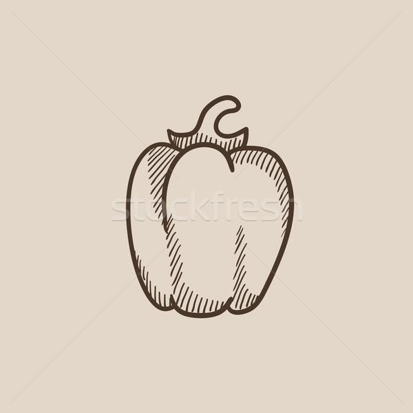 Bell pepper sketch icon. Stock photo © RAStudio