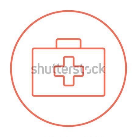 First aid kit line icon. Stock photo © RAStudio