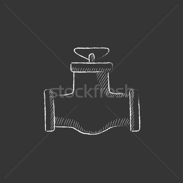 Alto tubo válvula giz ícone Foto stock © RAStudio