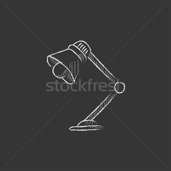 Table lamp. Drawn in chalk icon. Stock photo © RAStudio