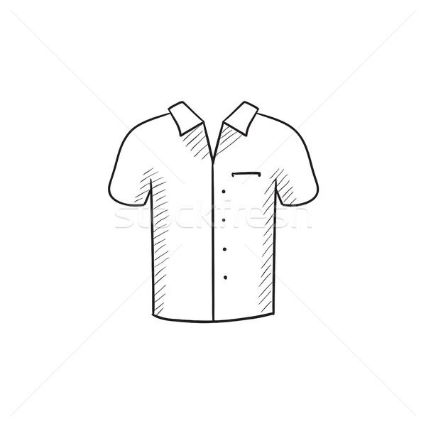 Pólóing rajz ikon vektor izolált kézzel rajzolt Stock fotó © RAStudio
