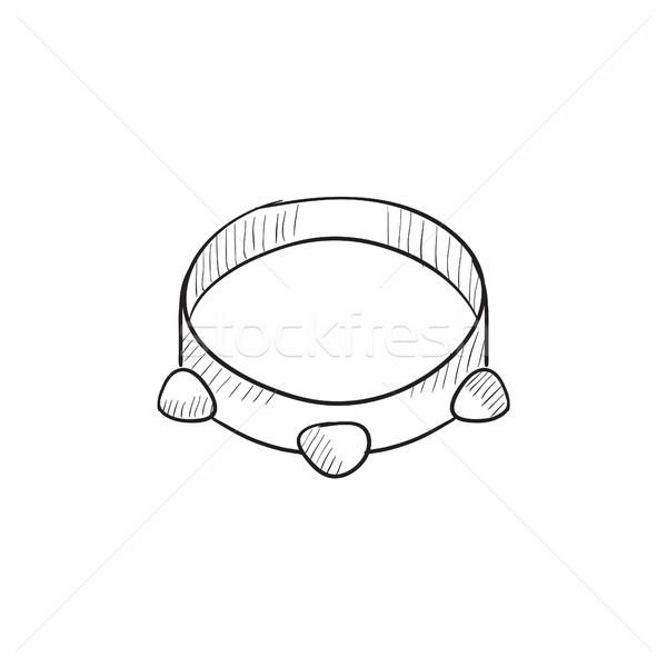 Tambourine sketch icon. Stock photo © RAStudio
