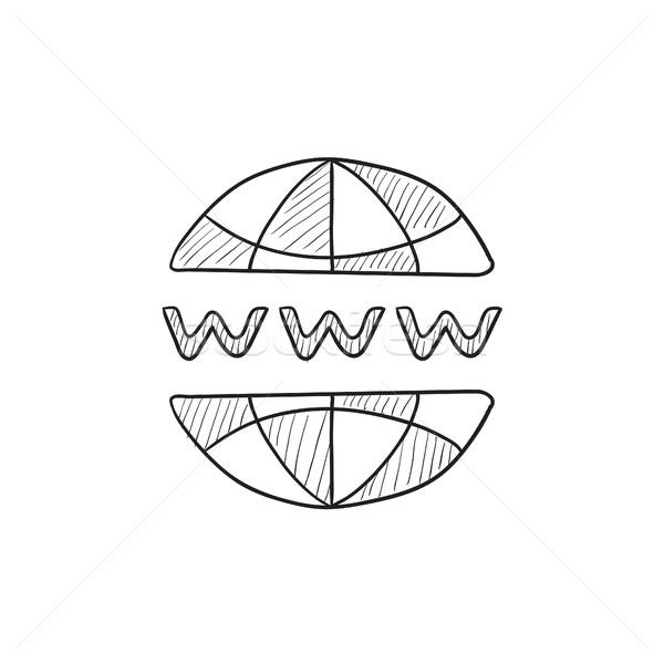Globe internet sketch icon. Stock photo © RAStudio
