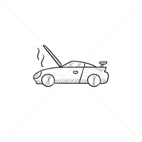 Auto rotta open sketch icona vettore isolato Foto d'archivio © RAStudio