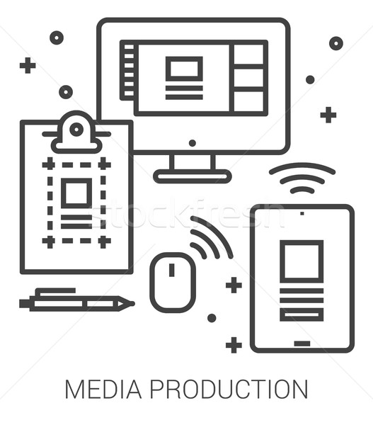 Media production line infographic. Stock photo © RAStudio
