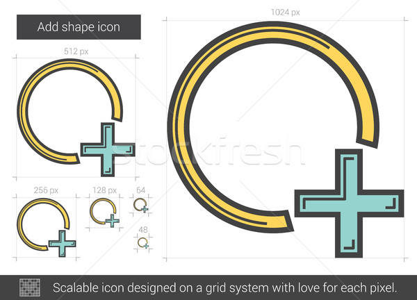 Add shape line icon. Stock photo © RAStudio