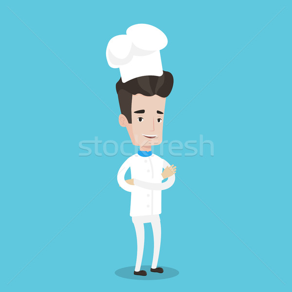 Stock photo: Confident male chief cooker with arms crossed.