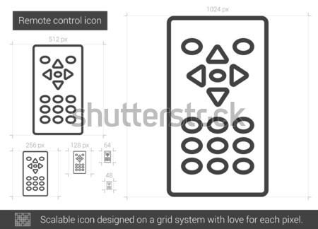 Remote control line icon. Stock photo © RAStudio