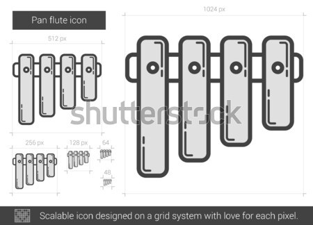 Pan flute line icon. Stock photo © RAStudio