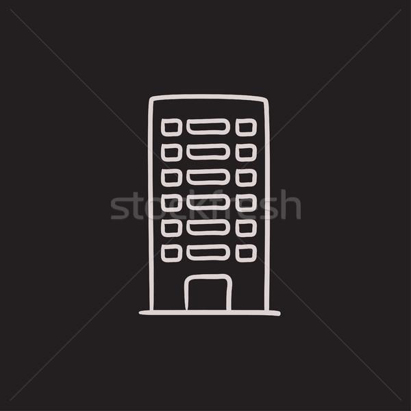 Residencial edificio boceto icono vector aislado Foto stock © RAStudio