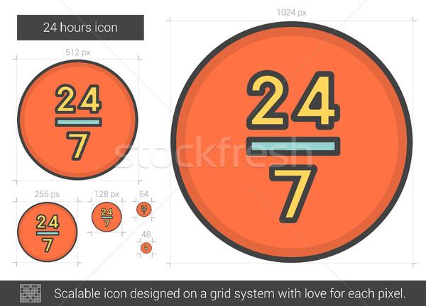 Twenty four hours line icon. Stock photo © RAStudio