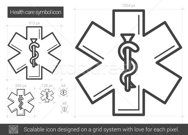 Gezondheidszorg symbool lijn icon vector geïsoleerd Stockfoto © RAStudio