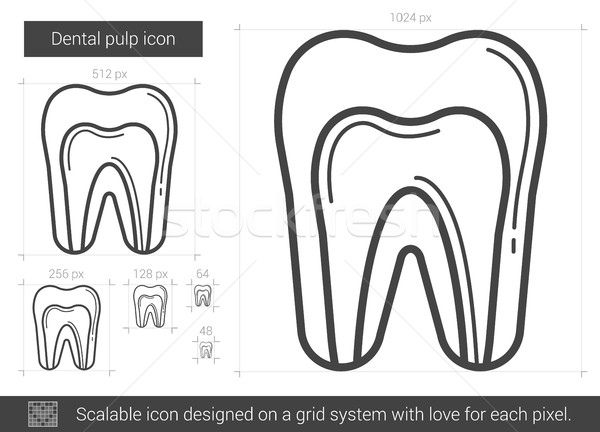 Dental pulp line icon. Stock photo © RAStudio