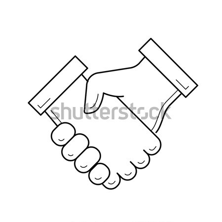 Handshake line icon. Stock photo © RAStudio