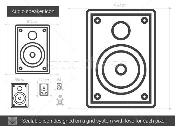 Audio hangszóró vonal ikon vektor izolált Stock fotó © RAStudio