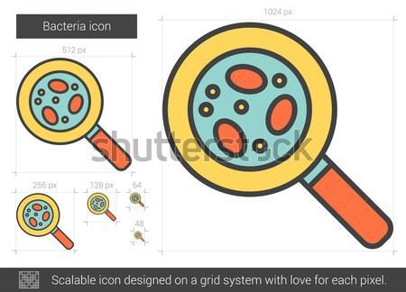 Bacteria line icon. Stock photo © RAStudio