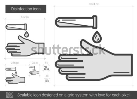 Disinfection line icon. Stock photo © RAStudio