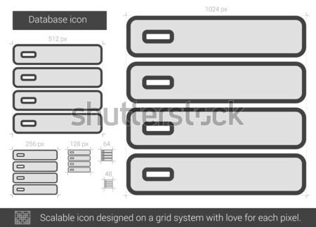 Veritabanı hat ikon vektör yalıtılmış beyaz Stok fotoğraf © RAStudio