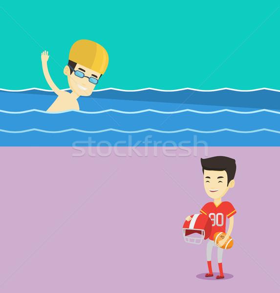 Dois esportes banners espaço texto vetor Foto stock © RAStudio