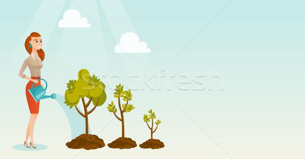 Сток-фото: деловой · женщины · деревья · кавказский · три · молодые