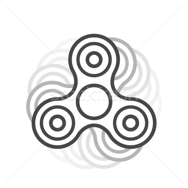 Fidget spinner line vector icon. Stock photo © RAStudio